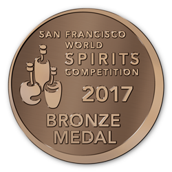 San Francisco World Spirits Competition 2017 - Silver Medal