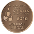 San Francisco World Spirits Competition 2016 - Bronze Medal