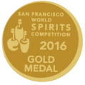 San Francisco World Spirits Competition 2016 - Gold Medal