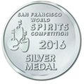 San Francisco World Spirits Competition 2016 - Silver Medal